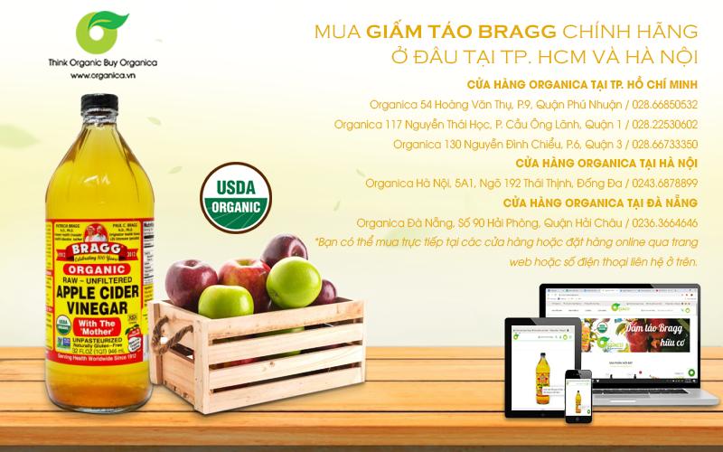 Mua giấm táo Bragg chính hãng ở đâu tại TP. HCM và Hà Nội?