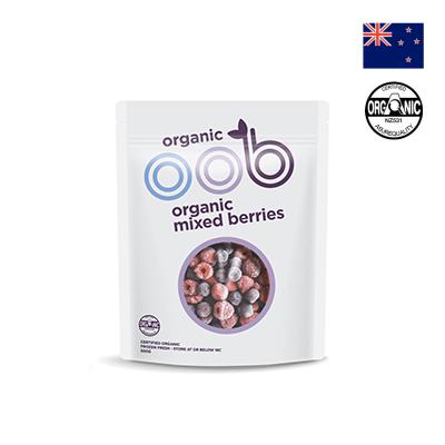 Hỗn hợp việt quất, phúc bồn tử và dâu tây hữu cơ OOB 500g