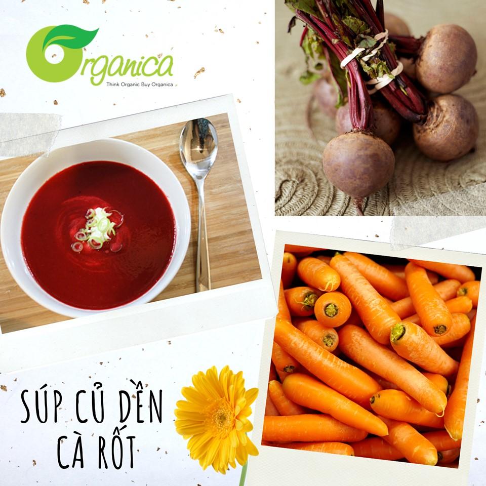 Súp củ dền và cà rốt
