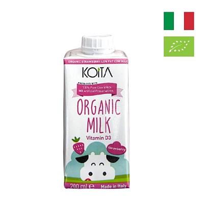 Sữa bò hữu cơ vị dâu ít béo Koita 200ml