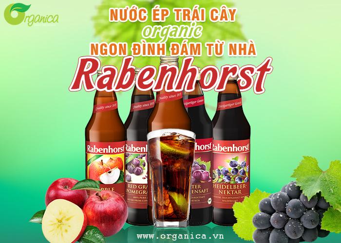 5 loại nước ép trái cây Organic ngon đình đám từ nhà Rabenhorst