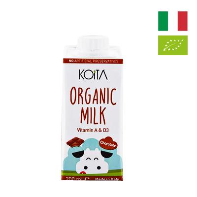 Sữa bò hữu cơ vị socola Koita 200ml
