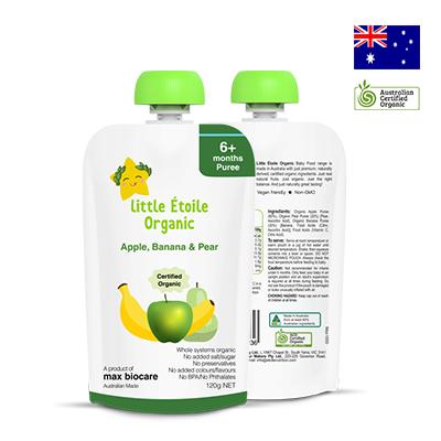 Thực phẩm dinh dưỡng trái cây Little Étoile Organic 120g