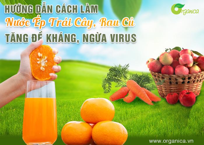 Hướng dẫn cách làm nước ép trái cây, rau củ tăng đề kháng, ngừa virus