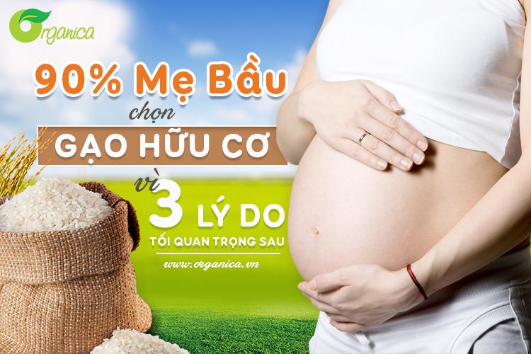 90% mẹ bầu chọn gạo hữu cơ (Organic) vì 3 lý do tối quan trọng sau
