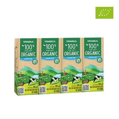 Sữa tươi hữu cơ Vinamilk 180ml