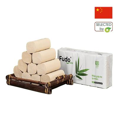Khăn giấy sợi tre Fudo 10 cuộn