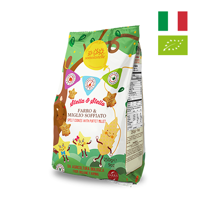 Bánh quy hạt kê hữu cơ cho bé Sottolestelle 250g
