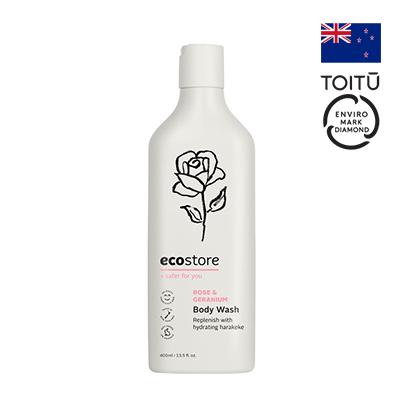 Sữa tắm hương hoa hồng và hoa phong lữ ecostore 400ml
