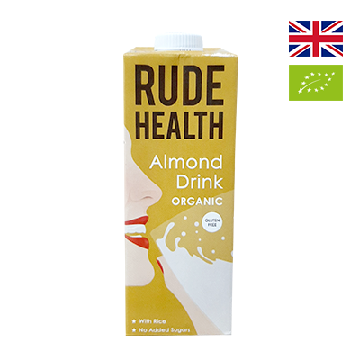Sữa hạnh nhân hữu cơ Rude Health 1L