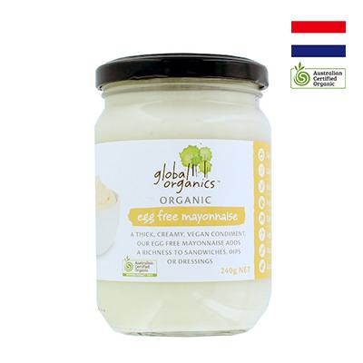 Sốt Mayonnaise hữu cơ Không Trứng Global Organics 240g