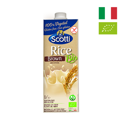 Sữa gạo nâu hữu cơ Riso Scotti 1L