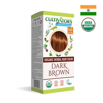 Bột nhuộm tóc hữu cơ màu nâu đậm Cultivator's 100g