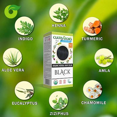 Bột nhuộm tóc hữu cơ màu đen Cultivator's 100g