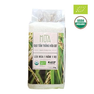 Gạo tấm trắng hữu cơ Mùa 2kg