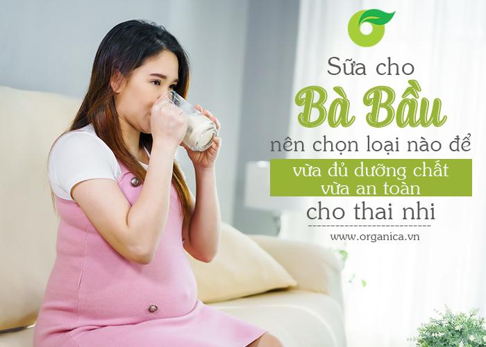 Sữa cho bà bầu nên chọn loại nào để vừa đủ dưỡng chất vừa an toàn cho thai nhi