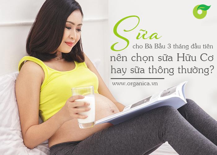 Sữa cho bà bầu 3 tháng đầu nên chọn sữa hữu cơ hay chọn sữa thông thường