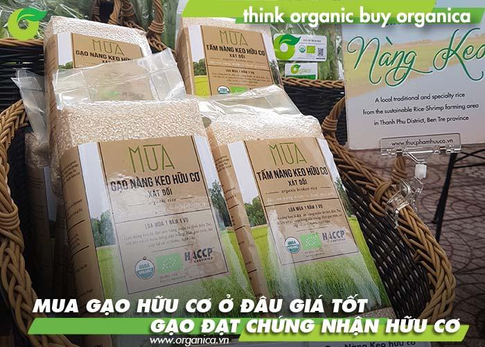 Mua gạo hữu cơ ở đâu giá tốt, gạo đạt chứng nhận hữu cơ