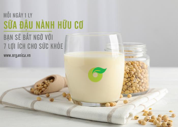 Mỗi ngày 1 ly sữa đậu nành hữu cơ, bạn sẽ bất ngờ với 7 lợi ích cho sức khỏe