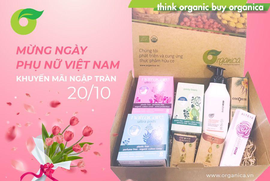 Organica chúc mừng Ngày Phụ nữ Việt Nam - 20/10 với ngập tràn ưu đãi